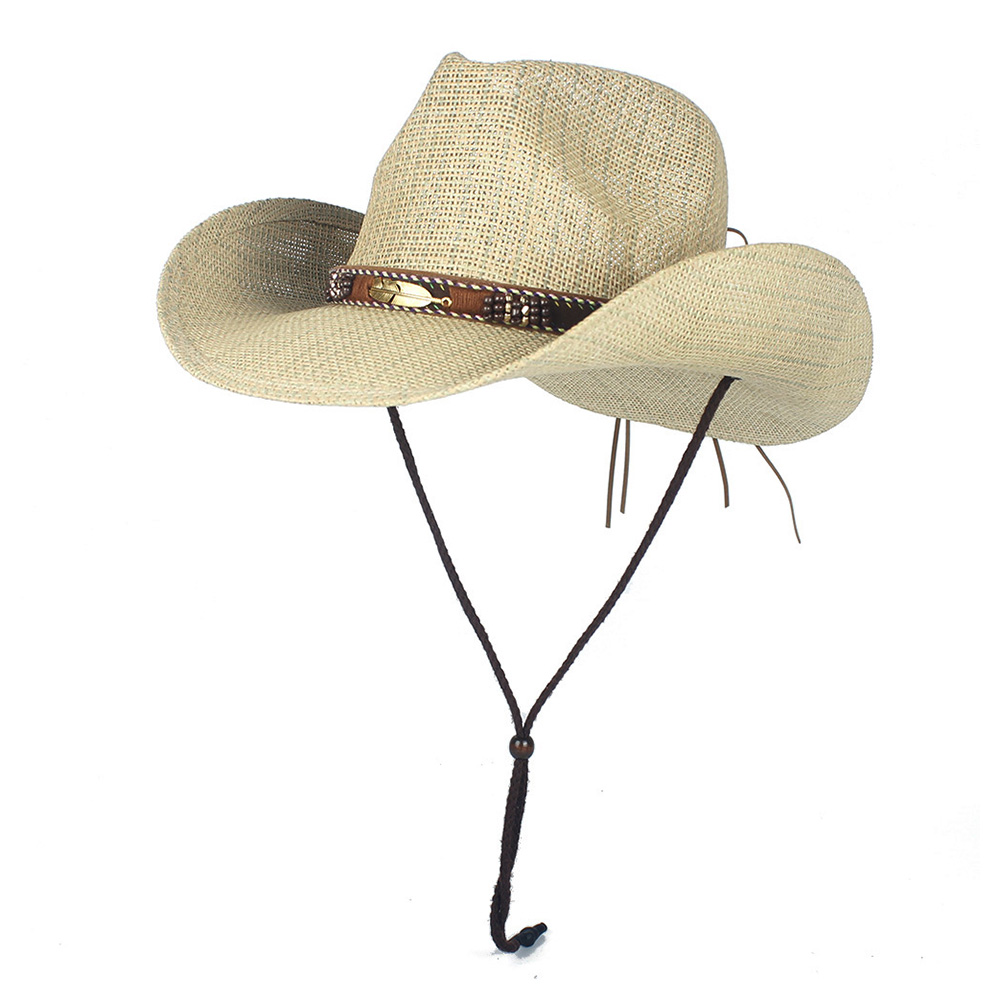 Western Cowboy Hat100% Straw Men Women Cowgirl Summer Hats For Lady Sun Hat Sombrero Hombre Beach Cowgirl Jazz