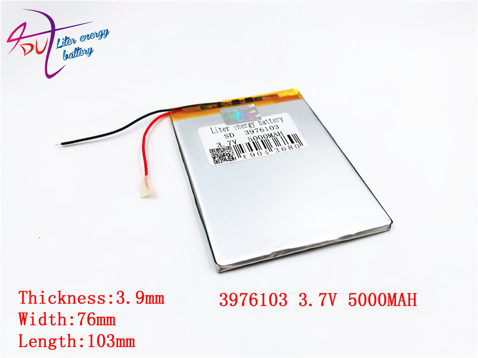 3.7 V high capacity polymer lithium battery, 3976103, 5000 mah sun N70 7 inch tablet battery free shipping 3 7 v 5000 mah tablet battery brand tablet gm lithium polymer battery 3088128