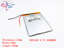 3.7 V high capacity polymer lithium battery, 3976103, 5000 mah sun N70 7 inch tablet battery
