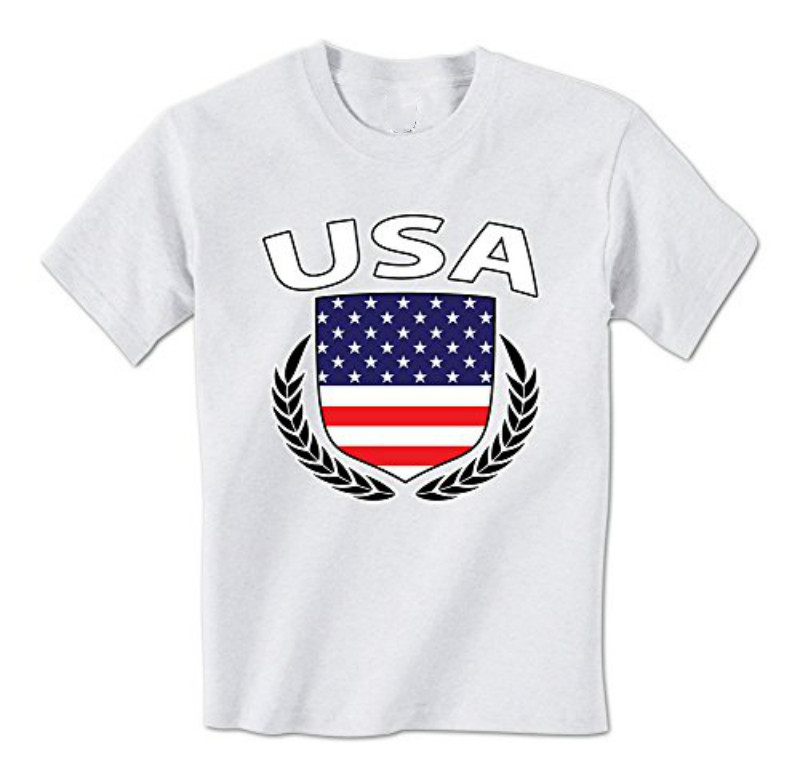 gildan man t shirt usa flag crest olive wreath american pride mens tshirt - American Pride T Shirt