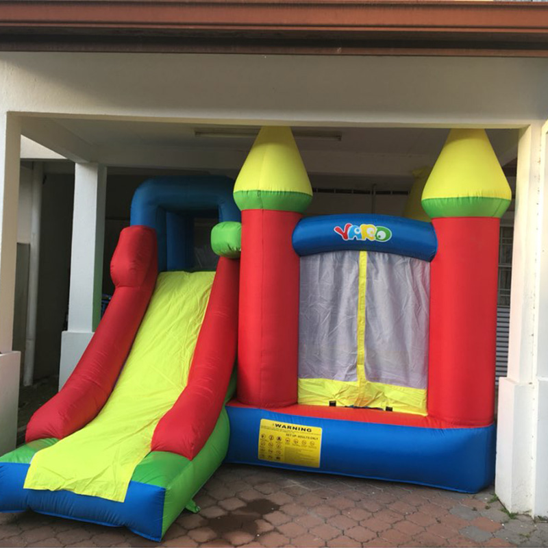 где купить YARD Oxford Kids Jumping Bouncy Castle Inflatable Bouncer with Free Blower for Children Party дешево