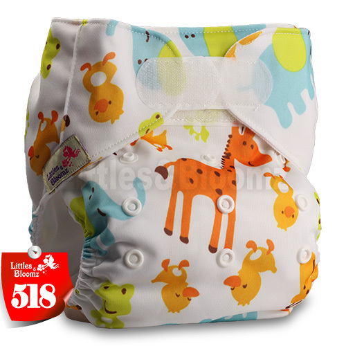 Patterns 308 Fastener: Hook-Loop Littles /& Bloomz Set of 3 with 6 Microfibre Inserts Reusable Pocket Cloth Nappy