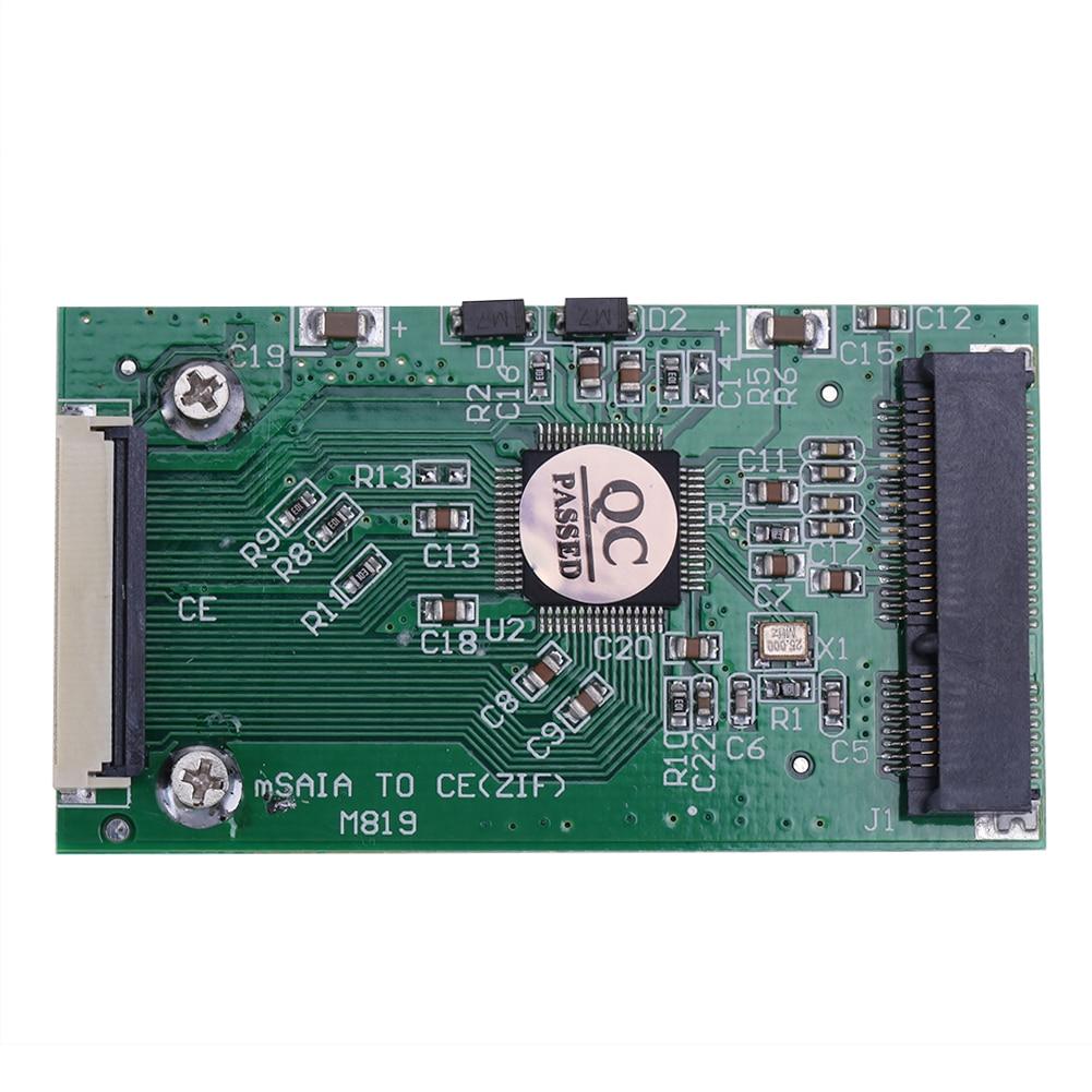 Mini SATA mSATA PCI-E SSD to 40pin 1.8 Inch ZIF CE Converter Card For IPOD IPAD for Toshiba for Hitachi ZIF CE HDD Hard disk(China)