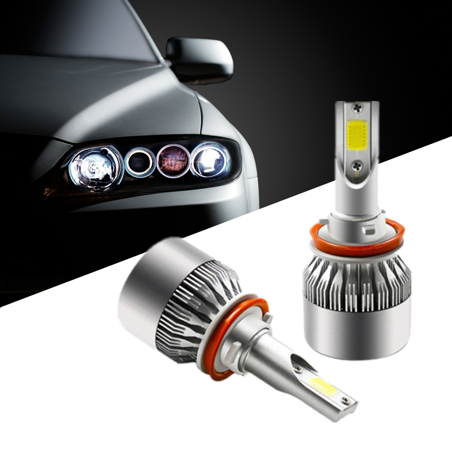 H7 H4 Car Led Headlight D2S LED Bulb D4S COB Auto 72W Automobiles Fog Light Luces DRL For bmw e46 Toyota Renault Opel Volkswagen 2pcs set 72w 7200lm h7 cob led car headlight headlamp auto lamps led kit 6000k headlight bulb light car headlight fog light
