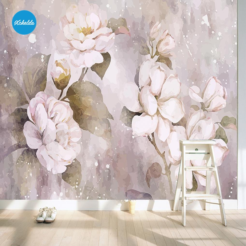 XCHELDA Custom 3D Wallpaper Design Romantic Pink Peony Photo Kitchen Bedroom Living Room Wall Murals Papel De Parede xchelda custom modern luxury photo wall mural 3d wallpaper papel de parede living room tv backdrop wall paper of sakura photo