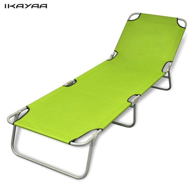 Ikayaa tumbona plegable con respaldo ajustable apple verde silla de ...