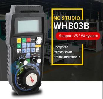 NC Studio engraving machine handle wireless hand wheel WHB03B v8 control system electronic hand wheel remote control