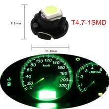 10 X T4.7 Neo клиновидный светодиодный светильник 12В Автомобильная кластерная приборная панель Dash климат A/C светильник s 5050 белый синий красный зеленый Цоколь 12 мм светильник
