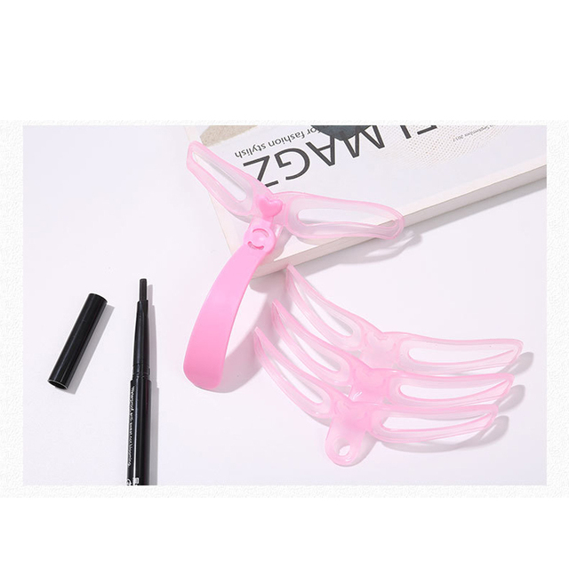 4Pcs/Set Professional Makeup Eyebrow Stencil Beauty Eyebrow Shaping Template Tools Woman Eyebrow Stencils Makeup Accessories 3