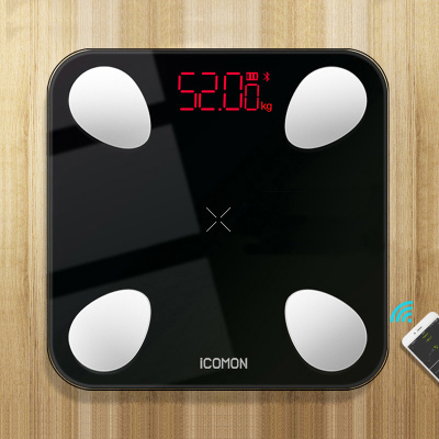 New 25 Body Index Digital Bathroom Scale Floor Smart Body Weight Scale Bluetooth Fat Measuring bmi Mi Scale USB Built in Battery Bathroom Scales    - title=