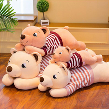 New Cute Wearing Clothe Bear Plush Toys Stuffed Animal Doll Toy Soft Plush Pillow Children Girls Birthday Gifts