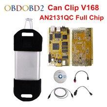 AN2131QC Oro PCB Para Renault Puede Clip de Chip Completo V168 Multi-idiomas Puede Clip de Herramienta de Diagnóstico Profesional DHL Libre