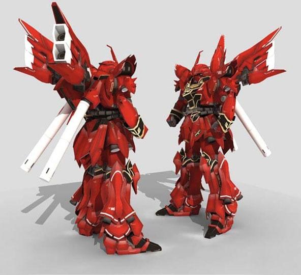 3D Paper Model Robot Gundam Model MSN-06S 38CM High DIY Puzzles Toy halo bruteshot 3d paper model