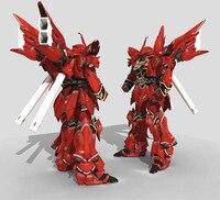 3D Paper Model Robot Gundam Model MSN 06S 38CM High DIY Puzzles Toy