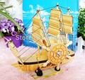 Pirate ship wooden sailing boat furnishing articles music household decoration smooth boyfriend gift box
