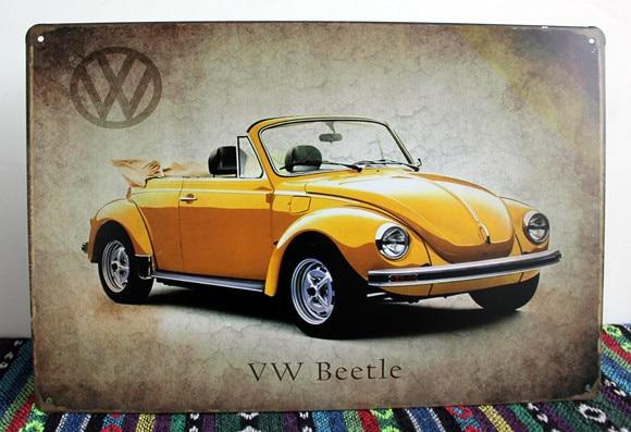 5pcs/lot Metal Sign Shabby Chic New Listing Art Wall Decor Vintage VW  Beetle Car Part 28