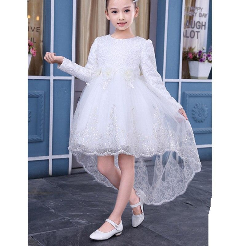 Фото Elegant Children Girls dress Fashion Princess Girls Party Lace Dress Baby Dress For Gilrs Kids Long Sleeve Clothes