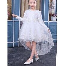 Élégant Enfants Filles robe De Mode Princesse Filles Parti Dentelle Robe Bébé Robe Pour Gilrs Enfants À Manches Longues Vêtements