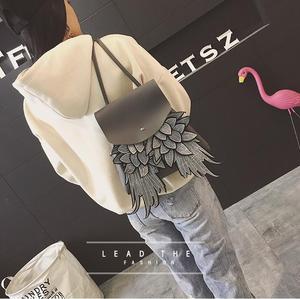 Image 5 - Willsrain אישה אופנה שחור תרמיל עם כנף טובה באיכות ייחודי עיצוב מלאך pu ליידי תיק שיק בגיל ההתבגרות תרמיל boslo