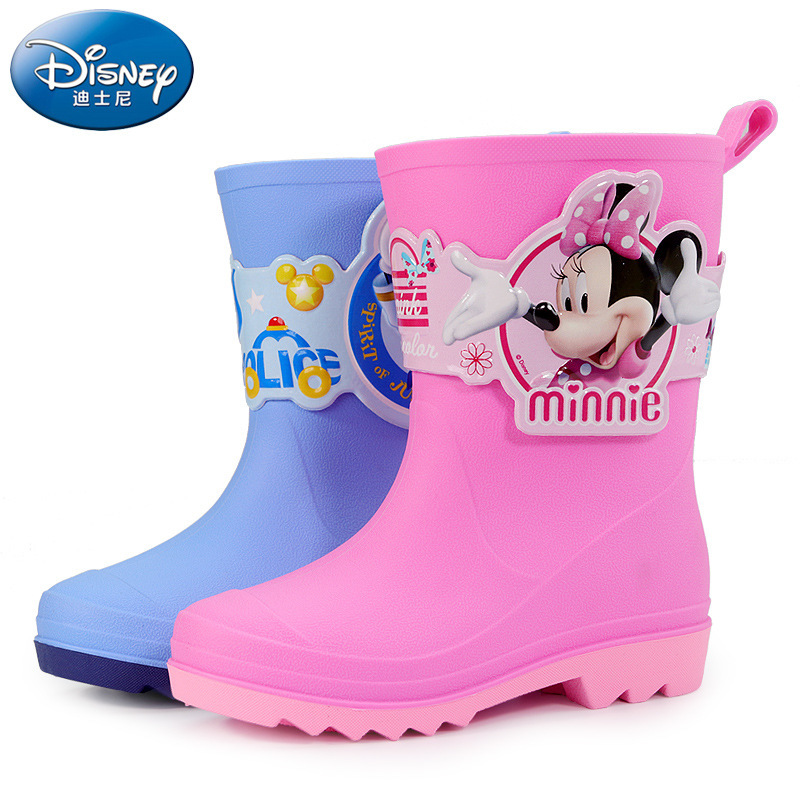 Disney Cartoon Kids Shoes Soft  Comfortable Rain Boots Non-slip Thickening Childrens Waterproof ShoesDisney Cartoon Kids Shoes Soft  Comfortable Rain Boots Non-slip Thickening Childrens Waterproof Shoes