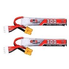 2 個 Gaoneng GNB 300 mAh 3 S 11.4 V 30C/60C HV リポバッテリー XT30 プラグフルスピード tinyLeader whoop3S ドローン Rc FPV ドローン部品