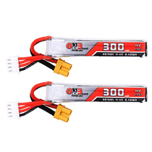 2PCS Gaoneng GNB 300mAh 3S 11.4V 30C/60C HV Lipo battery XT30 Plug for FullSpeed TinyLeader whoop3S Drone RC FPV Drone parts
