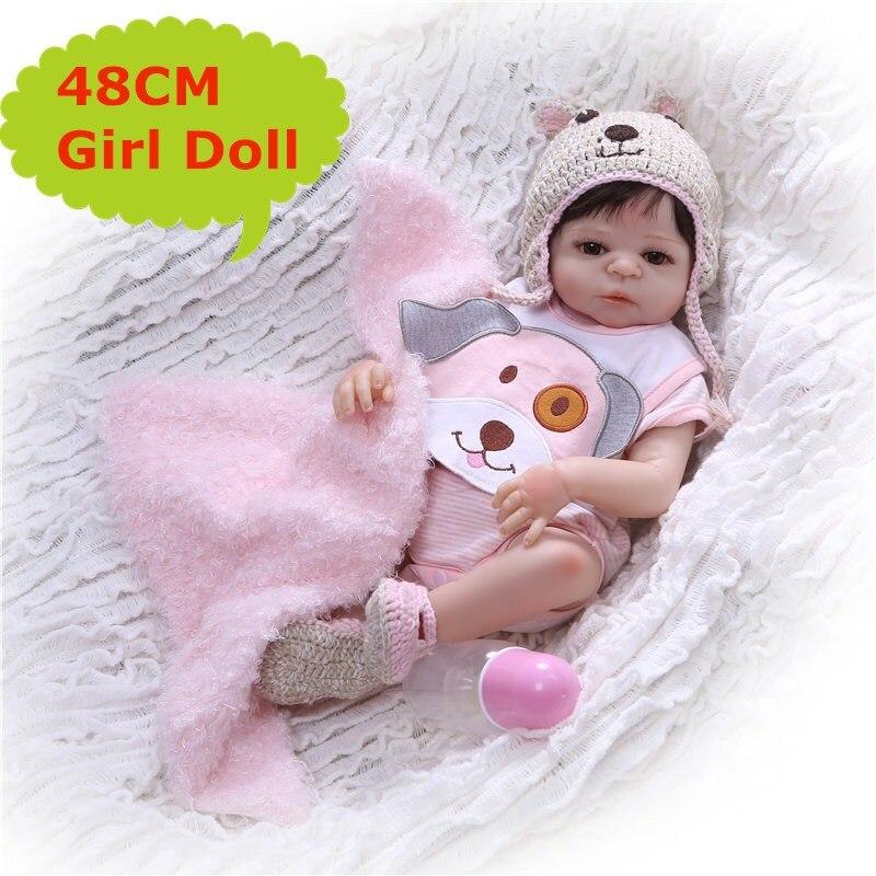 NPK 19 Alive Reborn Dolls Boneca Full Silicone Vinyl Newborn Baby Doll Lifelike Reborn Dolls With