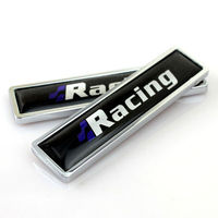 1Pair Racing Car Emblem Fender Badge Sticker Metal Accessories Fit For VW Golf Polo Passat Bora