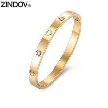 Женские браслеты zindov из нержавеющей стали с фианитами