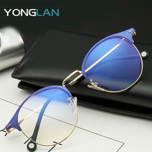 Yong Lan 2019 Round Design Women Optical Glasses Frame Oculos De Sol Feminino Eyewear Myopia Gafas Anti-blue light беспроводное зарядное устройство для samsung samsung ep ng930 black