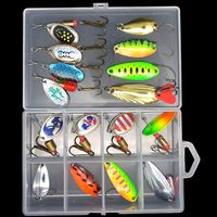 WLDSLURE 16pcs/box Fishing Lures Set Metal Spinner Spoon Fishing Tackle Boxes Wobblers Hard Baits Hooks|Fishing Lures| |  -