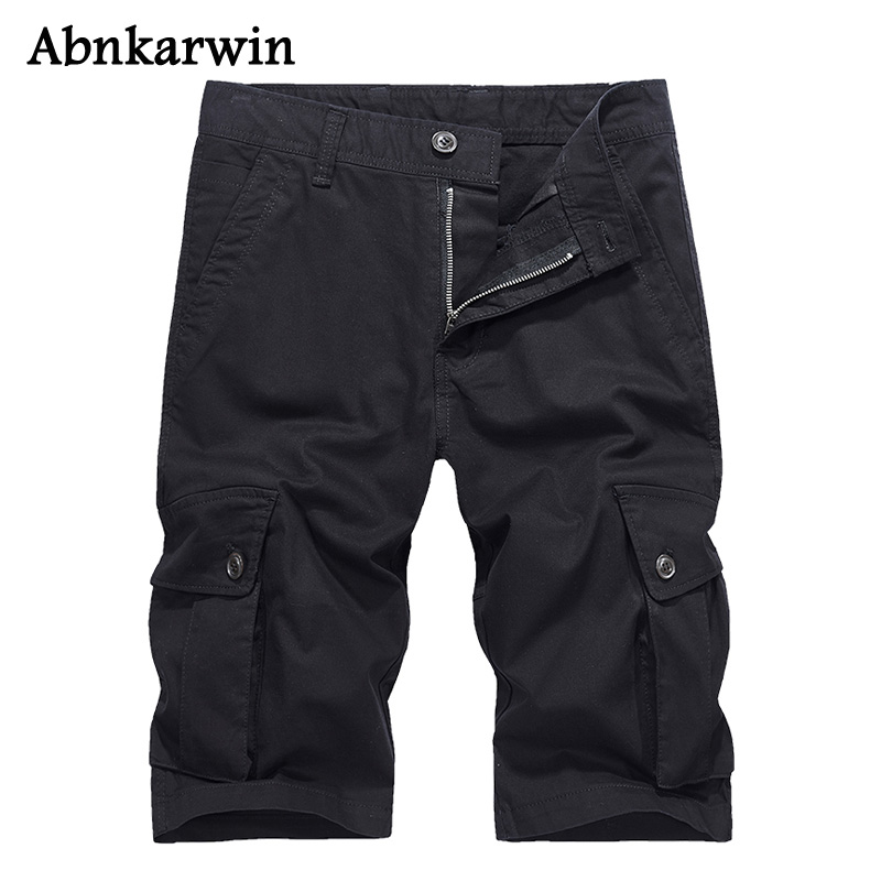 Abnkarwin 2018 New Cargo Military Shorts Men for Summer Camouflage Loose Casual Man Short Masculino Style