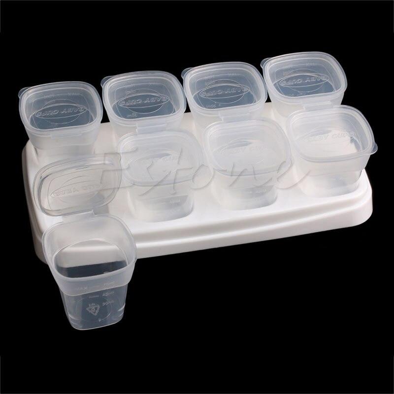 Высококачественные контейнеры для детского питания от Little Sprout: многоразовые штабелируемые стаканы для хранения с лотком