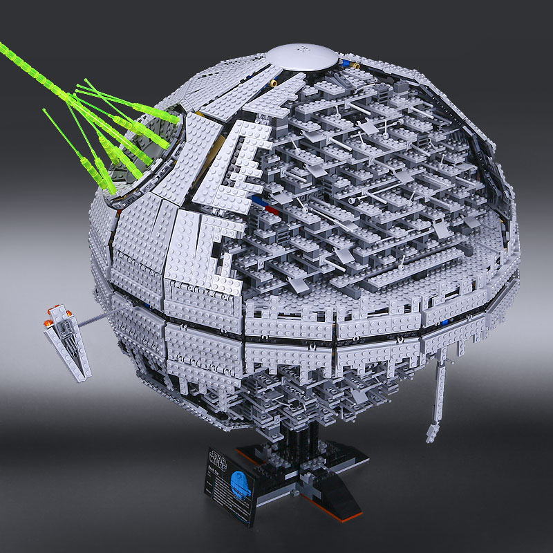 IN STOCK LEPIN 05026 3449Pcs Star Wars Death Star II Model Building Kits Blocks Bricks Compatible Chilsren Toys Gift With 10143 new 5265pcs star wars ultimate collector s millennium falcon model building kits blocks bricks kids toys compatible with 10179