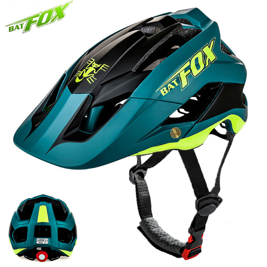 цена на BATFOX Cycling Helmet Road Mountain Cycle Helmet Integrally-molded MTB Bicycle Helmet Ultralight Bike Helmet Casco Ciclismo