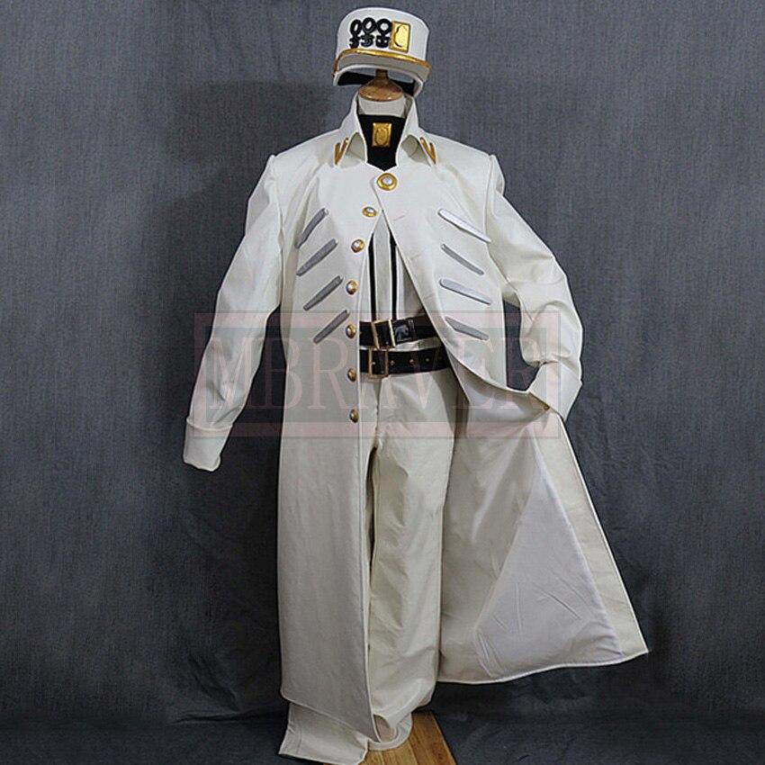 JoJos Bizarre Adventure Cosplay Kujo Jotaro Costume White Suit Uniform Costume Halloween Custom Made Any Size