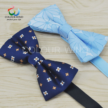 Men's Formal Business Polyester Bow Ties Woven Dot Striped Butterfly Adjustable Classic Black Knot Men Bowtie