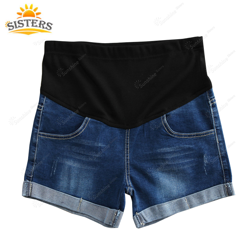 XXXXL Large Size Summer Denim Maternity Shorts For Pregnant Women Clothing Pregnancy Clothes Short Jeans Pants Shorts for Women spring summer new large size s 5xl ripped jeans for women pockets curling elastic high waist denim shorts jeans female 4 colors