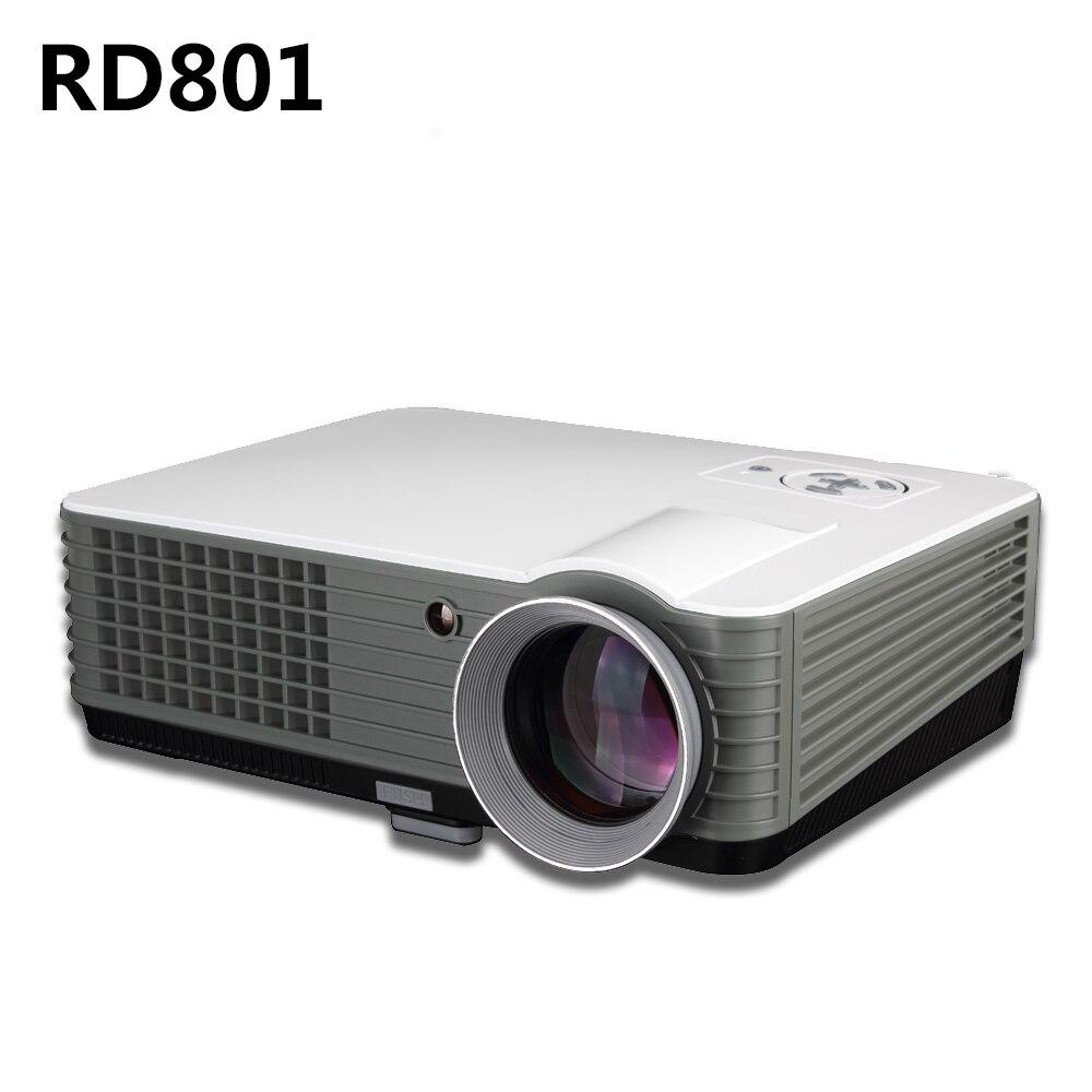 2000 Lumens Full Hd 1080p Led Lcd 3d Vga Hdmi Tv Home: LED Projector RD801 Full HD 2000 Lumens Support Data Show