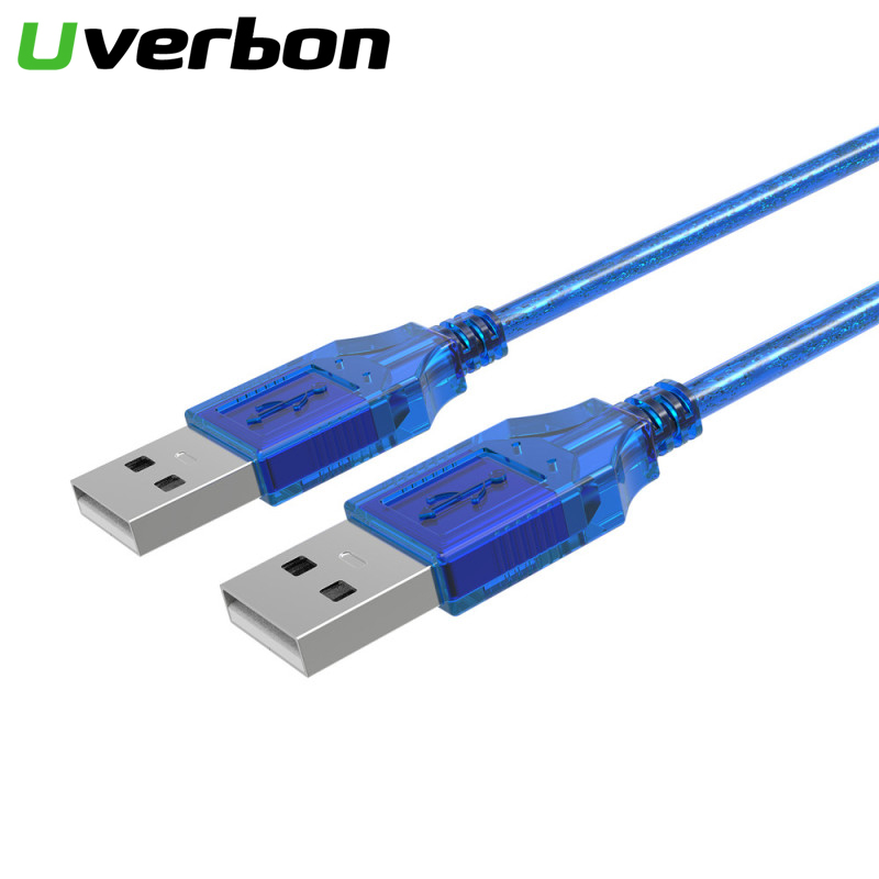 High Quality USB 2.0 Male To Male Data Cable Cord Aux Cable USB2.0 Extension Data Cable USB 2.0 Type A Male To USB Male Adapter