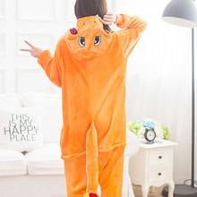 Charmander Pajama Pokemon Cosplay Costume Women Adult Kigurumi  Cute Animal Onesie Flannel Warm Winter Sleepwear Party Fancy
