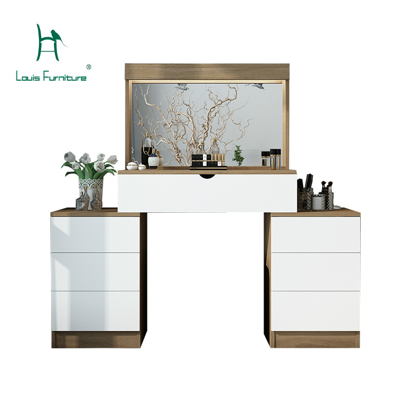 US $660.0 |Louis Fashion Nordic Simple Modern Telescopic Flip Back Storage  Drawer Dresser Small Apartment Collection Desk Makeup Table-in Dressers ...