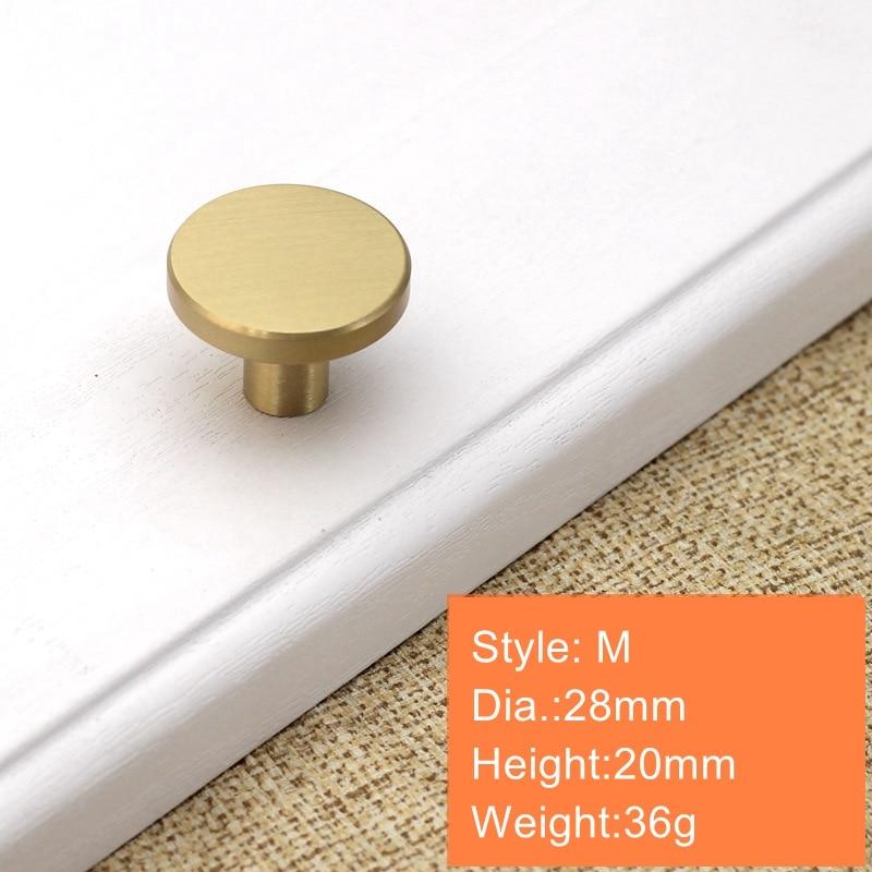 Круглые латунные ящик для буфета ручки Золото шкаф для мебели ручки дверные для шкафа Pulls-1Pack - Color: 28x20mm