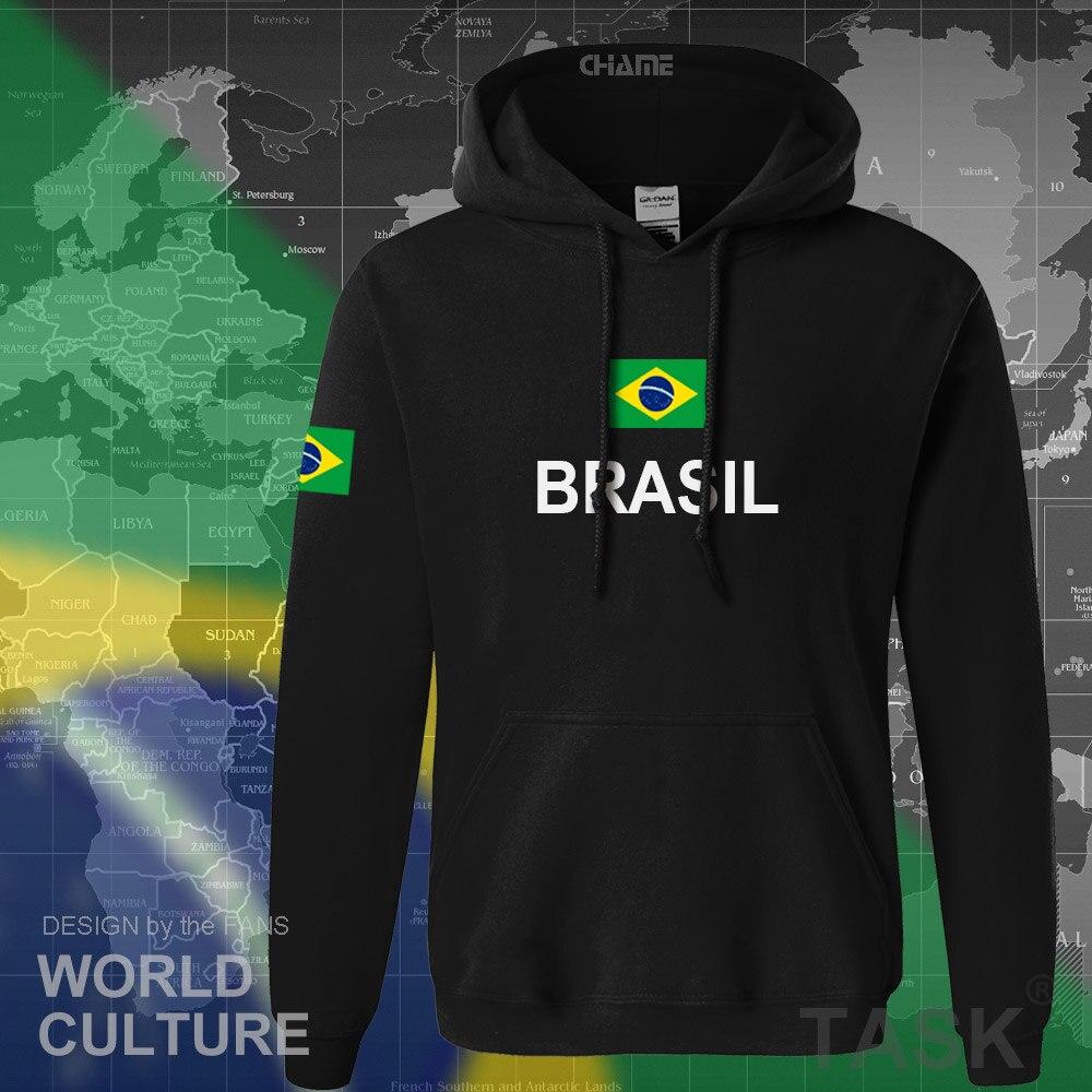 Image 2 - Brazil hoodie men sweatshirt sweat new streetwear 2017 tops jerseys clothing tracksuit nation Brazilian flag Brasil fleece BRmen sweatshirthoodies menmen hoodies sweatshirts -