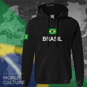Image 2 - Sudadera de Brasil para hombre, ropa nueva, camisetas, jerseys, chándal, bandera brasileña, Brasil, forro polar BR, 2017
