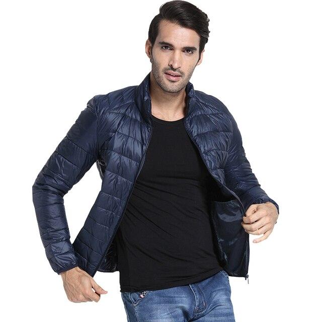 87c1e3665147b New Designer Autumn Winter Men s Down Jacket Casual Coat Fashion Waterproof  Jacket Men 90%Down