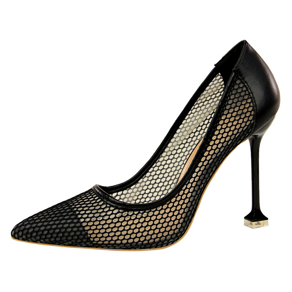 Shoes Woman High Heels Pumps Red High Heels 12CM shallowly pointed head sexy night shops thin reticulate hollowed single shoes in Women 39 s Pumps from Shoes