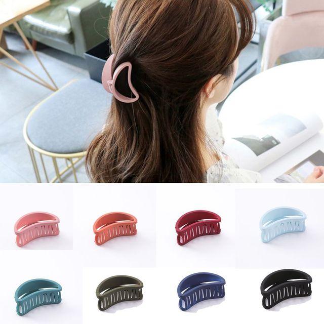 女性のファッションシンプルなビッグカニヘアクリップアクリル髪爪クリッパークランプシャワーメイクアップ洗濯ツールバレッタヘアアクセサリー