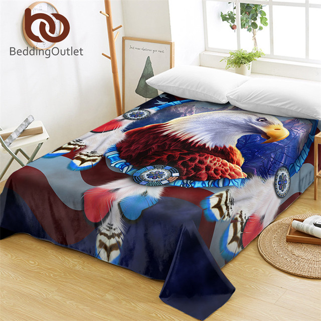 American Eagle Bedding: BeddingOutlet Eagles Bed Sheets One Piece 3D Printed Flat