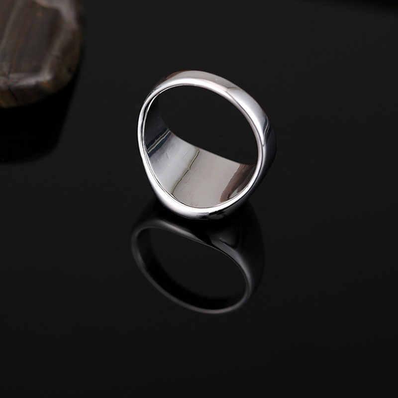 Sitaicery ทองเงินสีดำเคลือบแหวนผู้ชายแหวน Punk CLASSIC สีดำหยดเลียนแบบหินสีดำชายแหวน